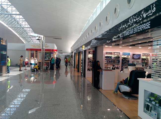 Brunei Airport is the main international gateway of the country.