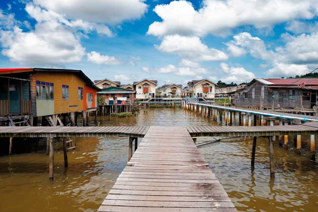 The water villages are worth to see. Many of the citizens of the country live in the water villages.